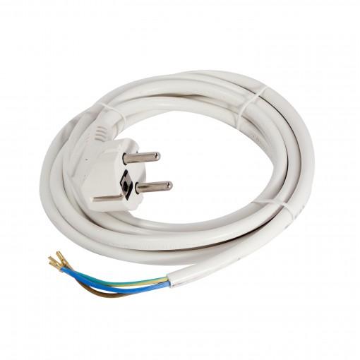 Aansluitsnoer - 3m 3 x 1,0mm2- wit