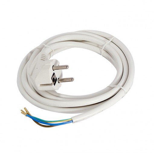 Cordon - 3m 3 x 1.0mm2 - blanc