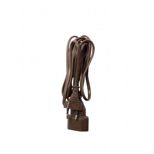 Verlengsnoer - HO3VVH2F - 2 x0,75mm2- 5m - bruin