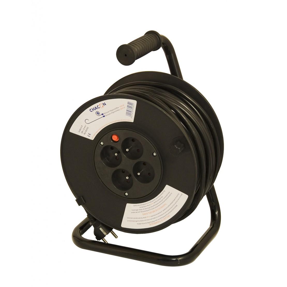 Enrouleur bricolage 4 x 16 A HO5VV-F 3 x 1,5mm2 - 50 m