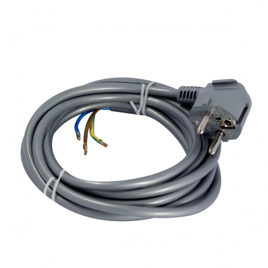 Aansluitsnoer - 3m 3 x 1,0mm2- grijs(SCH)