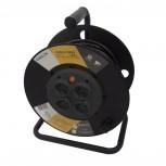Enrouleur avec prises fixes 4x 16A HO5VV-F 3 x 1,5mm² - 25 m