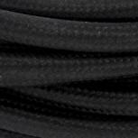 Cables textil HO3VV-FE 2 x 0,75mm2 3 m Negro