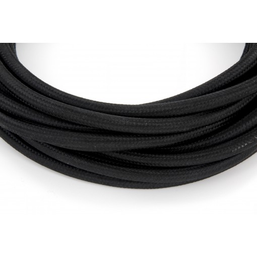 Câble HO3VV-F  2 x 0,75mm2 - 3 m - textile noir