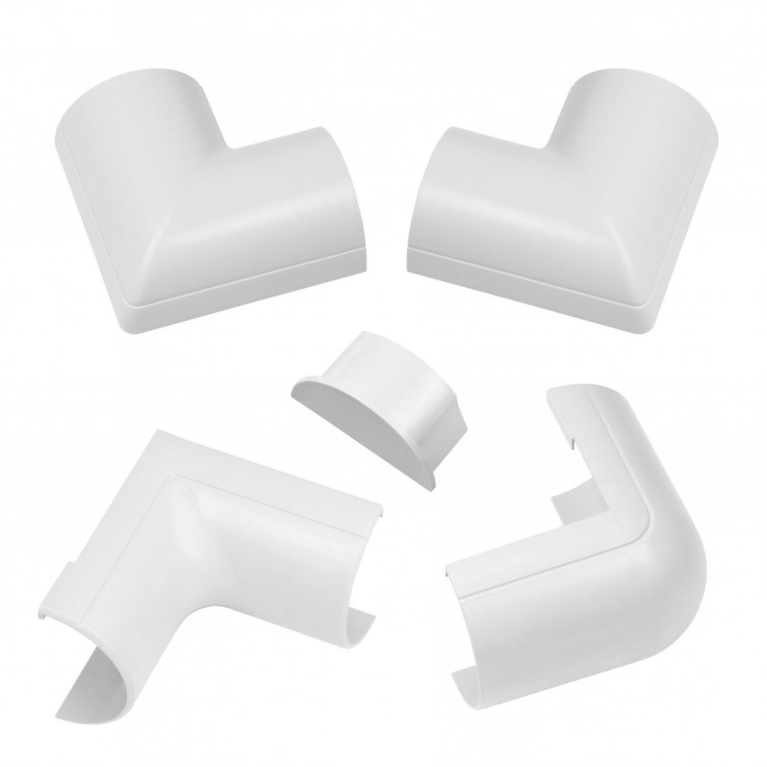 50x25mm Pack Accessoires à cli pser Blanc