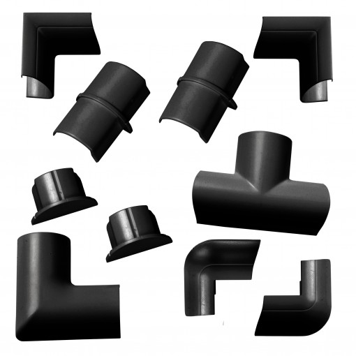 30x15mm Pack Accessoires à cli pser Noir