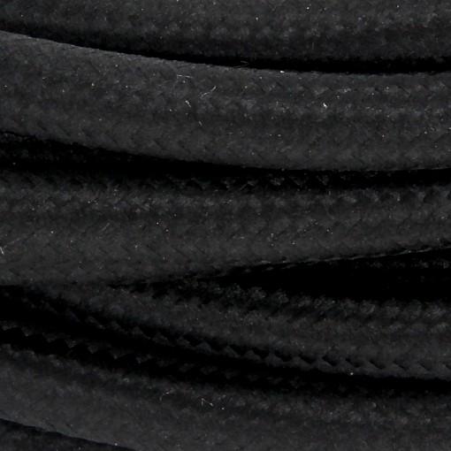Aansluitsnoer HO3VVH2-F  2 x 0,75mm2met schakelaar - 2 m - zwart