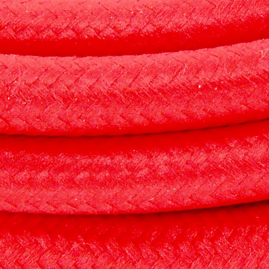 Cordon HO3VVH2-F  2 x 0,75mm2 avec interrupteur - 2 m - text ile rouge