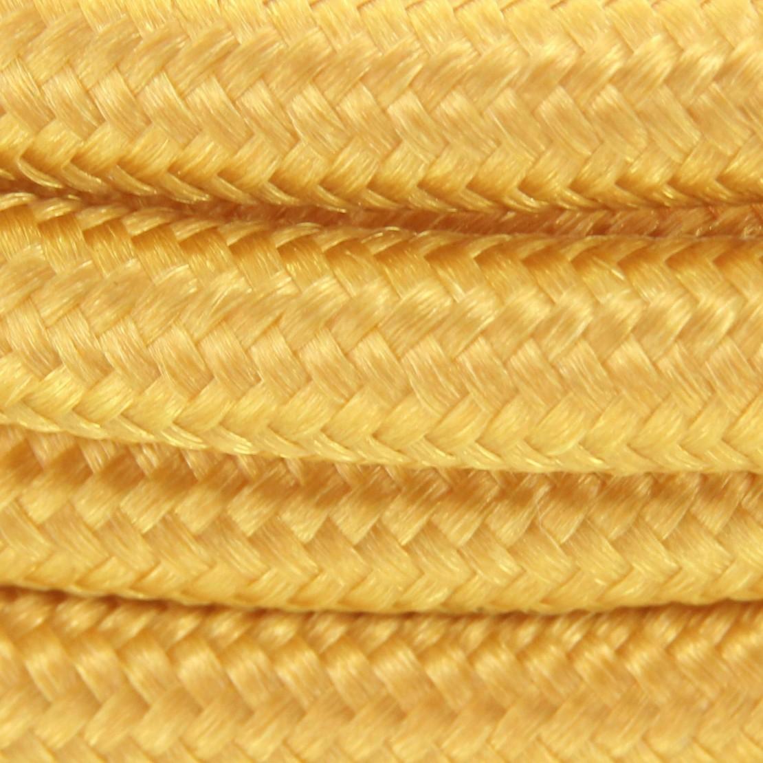 Aansluitsnoer HO3VVH2-F  2 x 0,75mm2met schakelaar - 2 m - goud