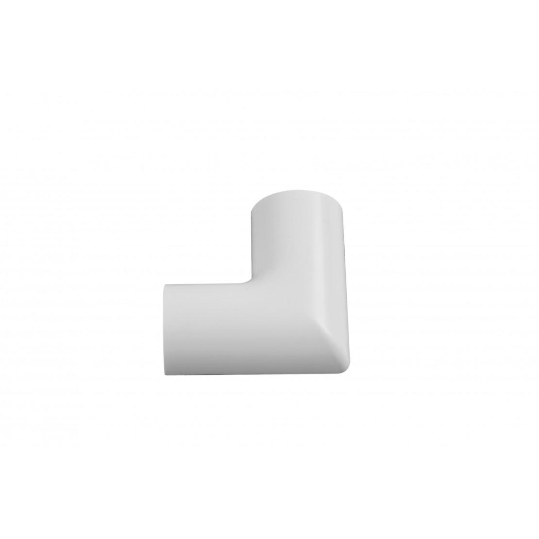 2xANGLES PLAT à clipser 30/15 Blanc