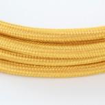 Cables textil con interruptorEHO3VVH2-FE 2 x 0,75mm2 2 m Oro