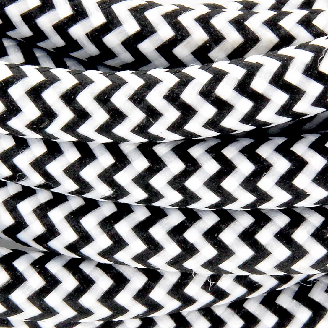Cordon HO3VVH2-F  2 x 0,75mm2 avec interrupteur - 2 m - noir /blanc