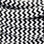 Aansluitsnoer HO3VVH2-F  2 x 0,75mm2met schakelaar - 2 m - zwart/ wit