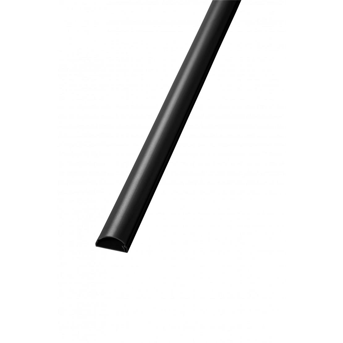 Kabelgoot D-Vorm 30x15mmZelfklevend 2M Zwart