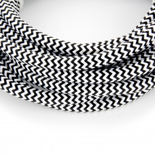 Cables textil con interruptorEHO3VVH2-FE 2 x 0,75mm2 2 m Negro Blanco