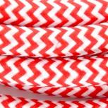 Cabos texteis com interruptorEHO3VVH2-FE 2 x 0,75mm2 24 m Vermelho BrancoE