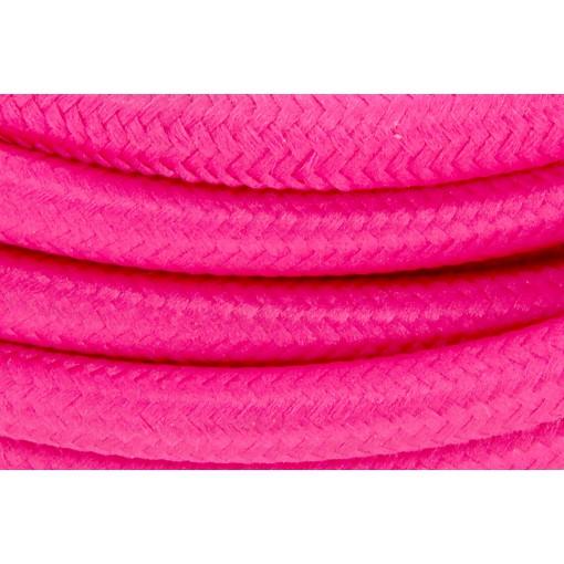 Cables textil con interruptorEHO3VVH2-FE 2 x 0,75mm2 2 m Rosa