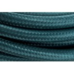 Cables textil con interruptorEHO3VVH2-FE 2 x 0,75mm2 2 m Pavo real azul