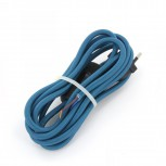 Cordon HO3VVH2-F  2 x 0,75mm2 avec interrupteur - 2 m - bleu paon