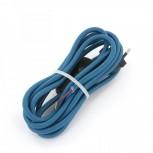 Aansluitsnoer HO3VVH2-F  2 x 0,75mm2met schakelaar - 2 m -pauw blauw