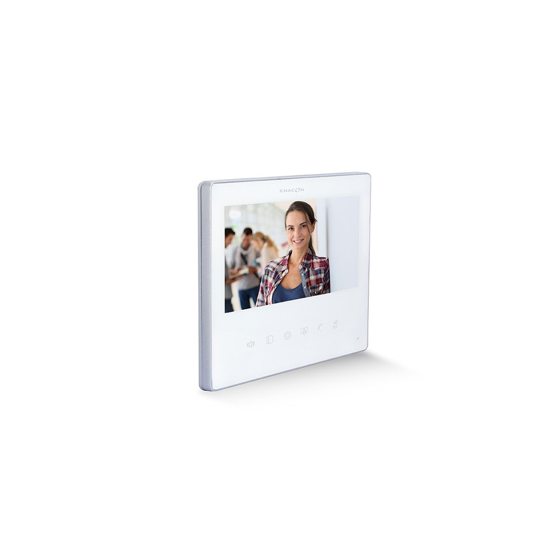 """Tela LCD 7"""" adicional - branco""Ultra Slim para 34844 & 34863"