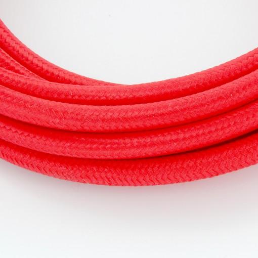 Câble HO3VV-F  2 x 0,75mm2 - 3 m - textile rouge