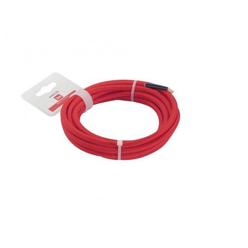 Cables textil HO3VV-FE 2 x 0,75mm2 3 m Rojo