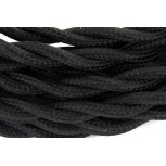 Cordon HO3VV-F  2 x 0,75mm2 to sadé - 3m - textile noir