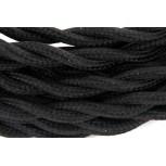 Twisted kabel - 3 m -zwart