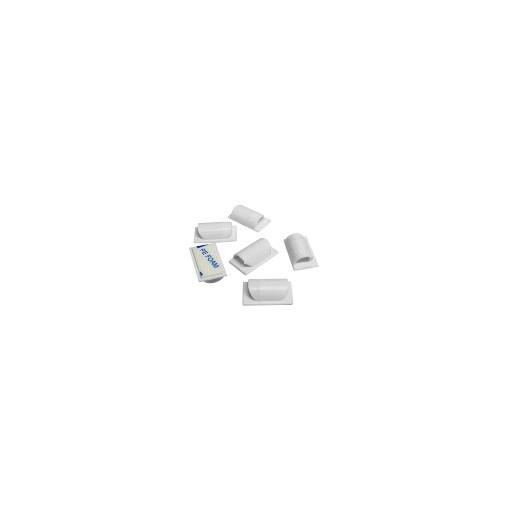 Clips banden witte kabelsx 6 stukken