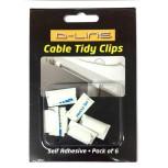 Clips attaches câbles blancs x 6 pièces