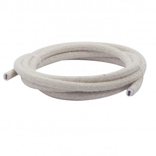 Kabel HO3VV-F  2 x 0,75mm2- 3m - linnen