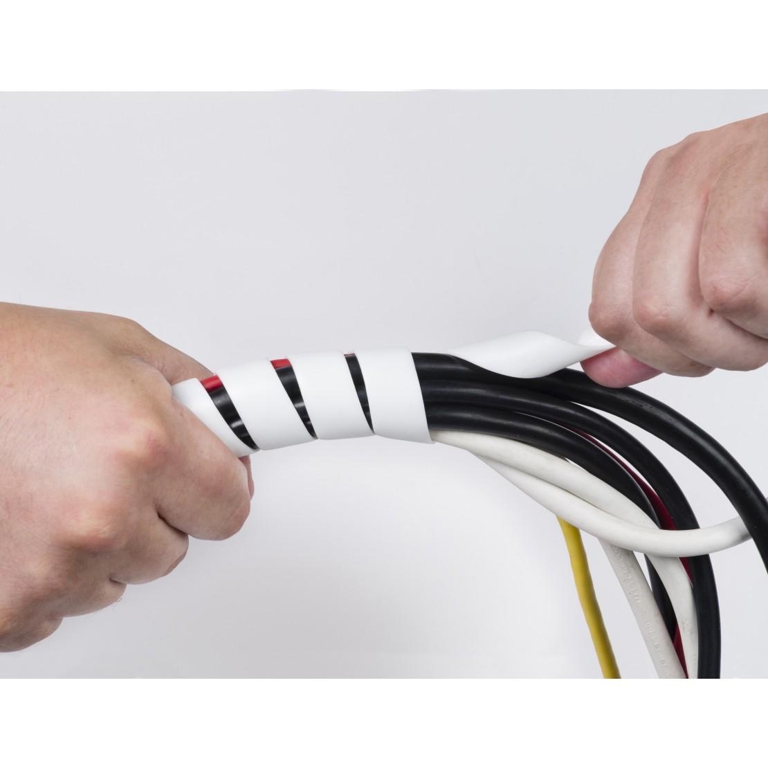Wit spiraal10-40mm Ø x 2,5m