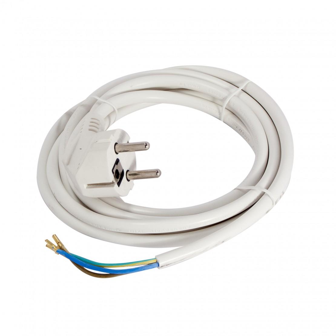 Cordon HO5VVF 3 x 1,0mm2 - 1,5 m - blanc