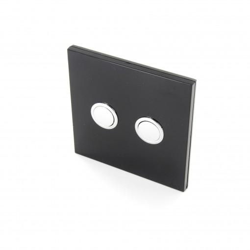 Interruptor 868MHz 2 Canales Negro