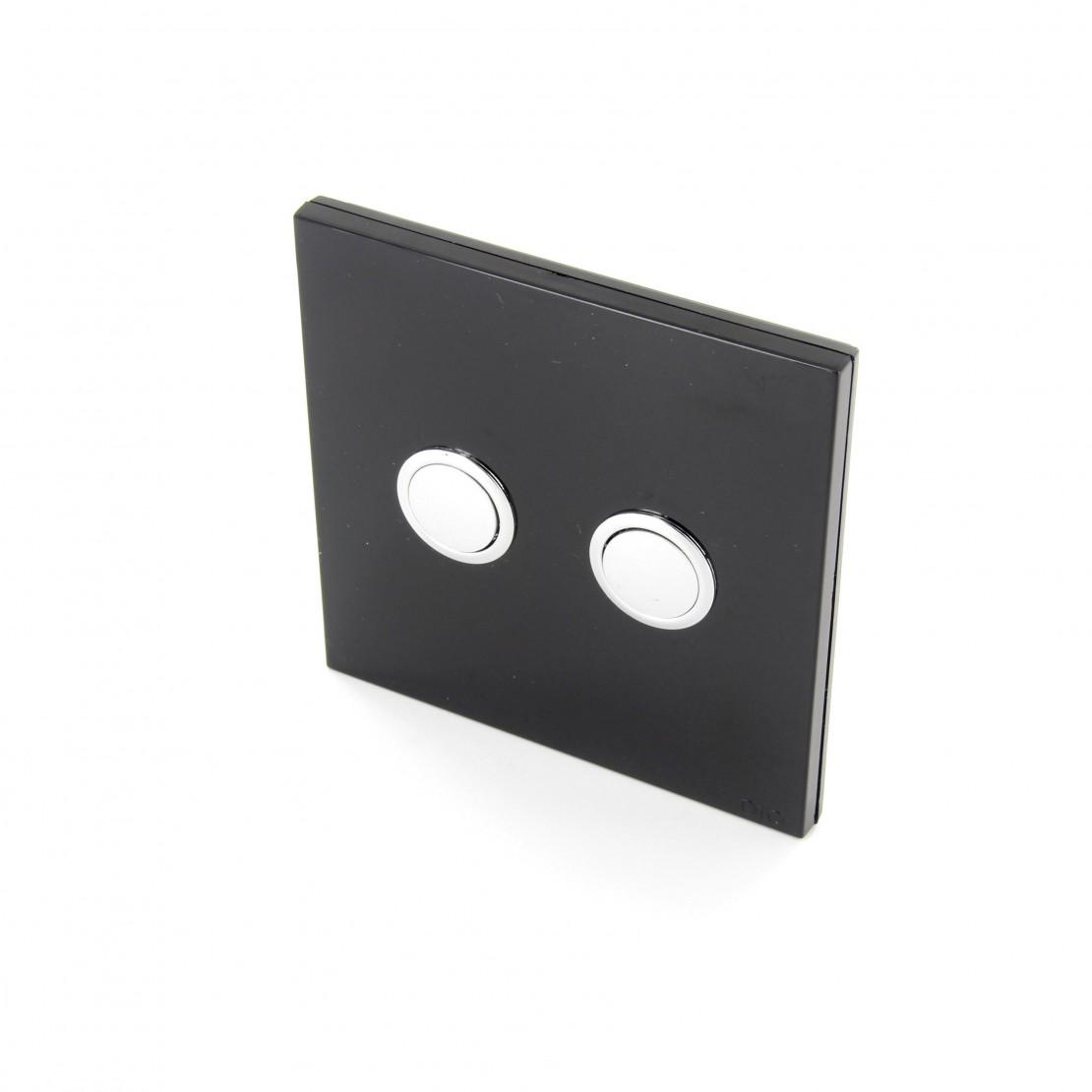 Interruptor 868MHz 2 Canais Preto