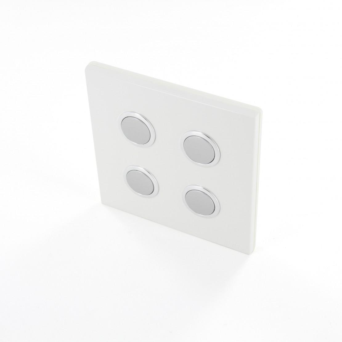 Interruptor 868MHz 4 Canais Branco