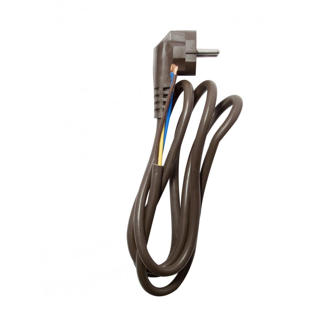 Cable HO5VVF - 3m - 3x1,5mm2 -Marrón(SCH)