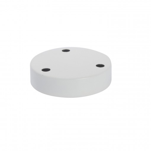 Zocalo metalico 3 orificios Blanco
