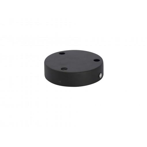 Metalen schermkap 12 cm 3 holes- zwart