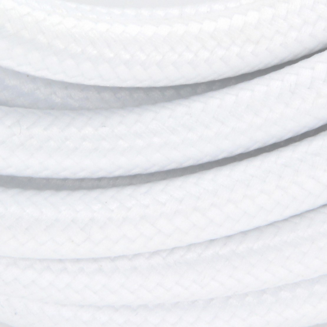 Cable de textil blanco + interruptor 2x0,75 mm2