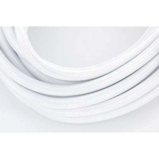Cable de textil blanco + interruptor 2x0,75 mm2