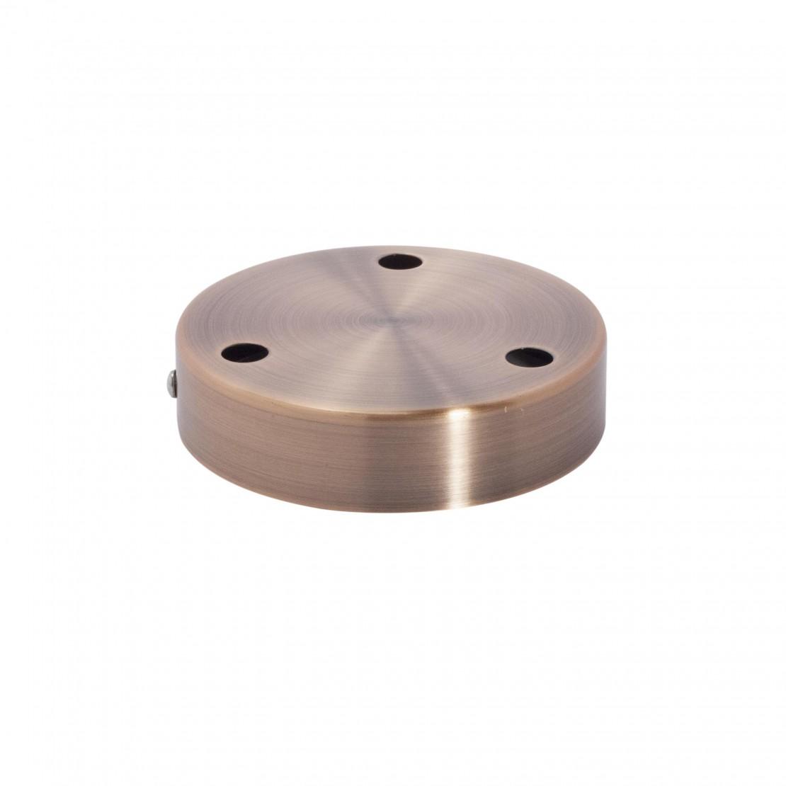 Metalen schermkap 12 cm 3 holes- kopperen