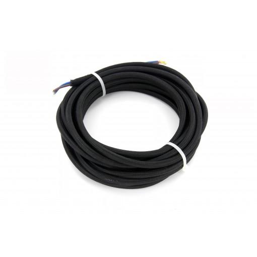 Kabel HO3VV-F  2 x 0,75mm2- 5m - zwart