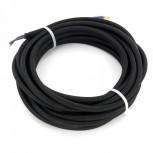 Cables textil HO3VV-FE 2 x 0,75mm2 5 m Negro