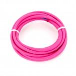 Câble HO3VV-F  2 x 0,75mm2 - 3 m - textile rose