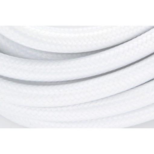 Câble HO3VV-F  2 x 0,75mm2 - 5 m - textile blanc