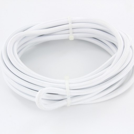 Kabel HO3VV-F  2 x 0,75mm2- 5m - wit