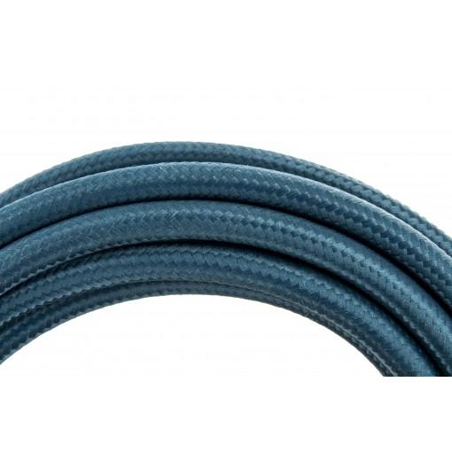 Câble HO3VV-F  2 x 0,75mm2 - 3 m - textile bleu paon