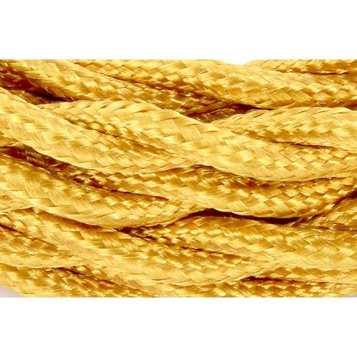 Cables textil trenzado HO3VV-FE 2 x 0,75mm2 3 m Oro